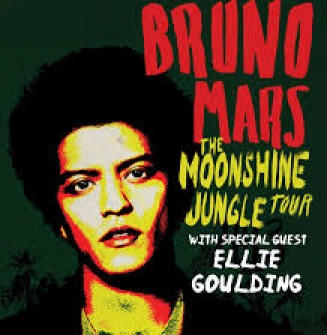 Bruno Mars and Ellie Goulding at the Molson Amphitheatre